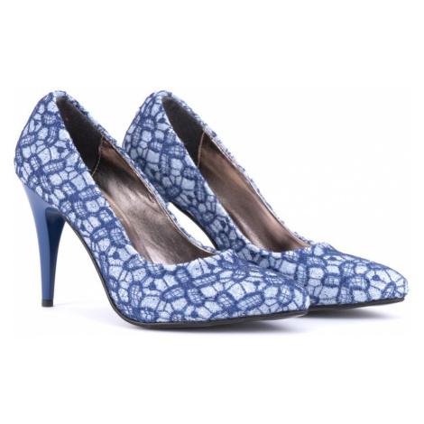 Modrobílé dámské trendy lodičky Nenie