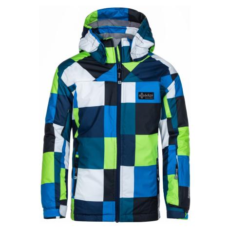 KILPI Chlapecká lyžařská bunda ATENI-JB LJ0013KIDBL Tmavě modrá