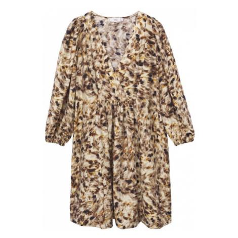 MANGO Letní šaty 'carnaby' hnědá