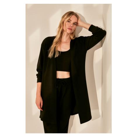 Trendyol Black Basic Knitted Cardigan