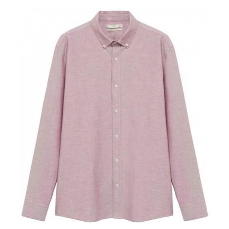 MANGO MAN Košile 'Oxford' růžová