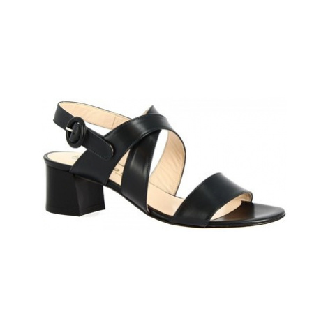 Leonardo Shoes 3371 VITELLO BLU Modrá
