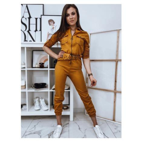 Dstreet Trendy dámský overal Staff ve žluté barvě