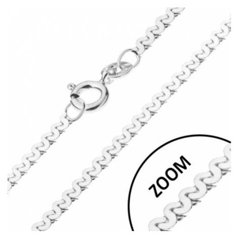 Řetízek ze stříbra 925 - esíčkovitý vzor, lesklý, šířka 1 mm, délka 550 mm Šperky eshop
