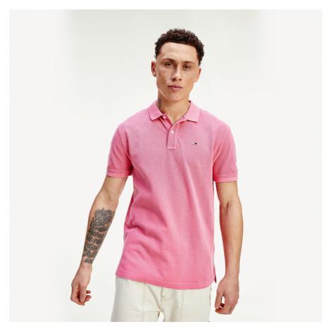 Tommy Jeans pánské růžové polo tričko Tommy Hilfiger