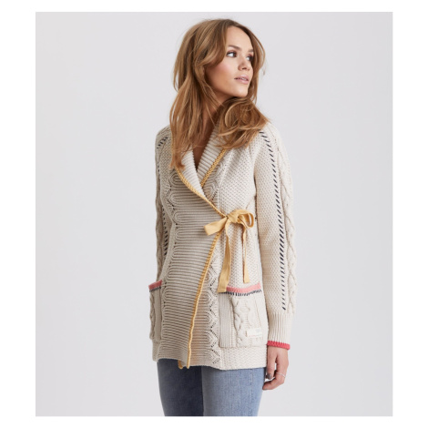Svetr Odd Molly Sweet Distorsion Long Cardigan - Bílá
