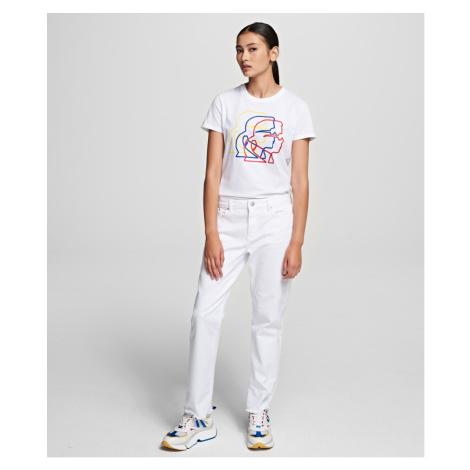 Džíny Karl Lagerfeld Straight Leg Denim - Bílá
