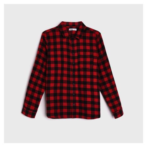Sinsay - Kostkovaná košile - Červená