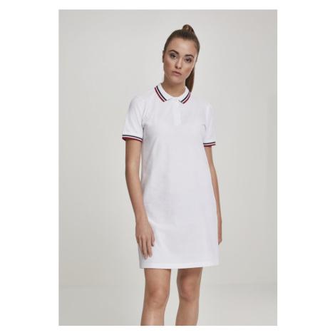 Šaty Urban Classics Ladies Polo Dress - white