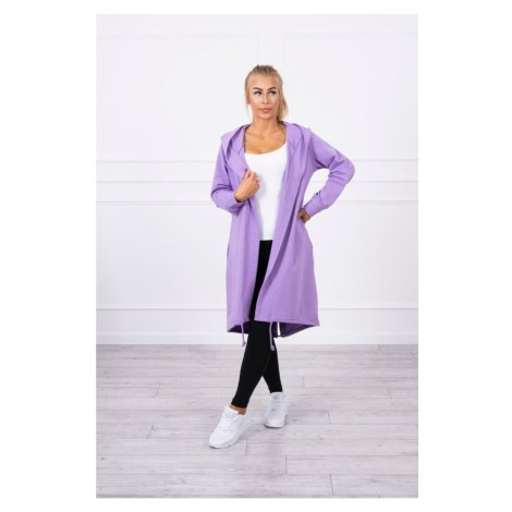 Cardigan with print oversize purple Kesi