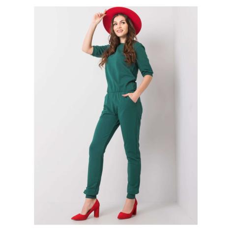 Dark green women´s jumpsuit Fashionhunters
