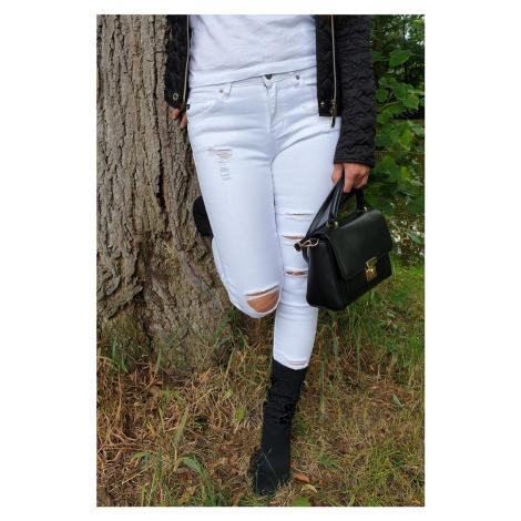 KanCan USA KanCan Sharon Athena Bílé Skinny Jeans džíny