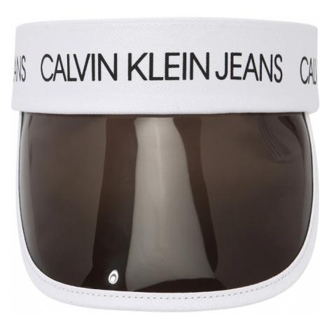 Calvin Klein Jeans Klobouk černá / bílá