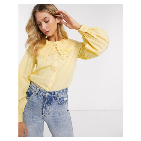 Y.A.S shirt with oversized lace colour in yellow