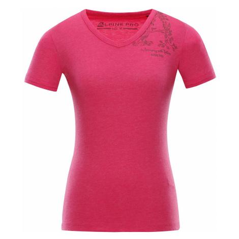 Dámské triko Alpine Pro LAILA 2 - tmavě růžová