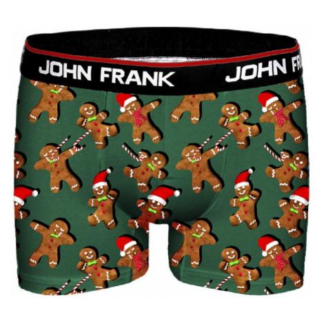Pánské boxery John Frank JFBD11 Perníček   zelená