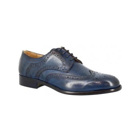 Leonardo Shoes 862-17 VITELLO BLU Modrá