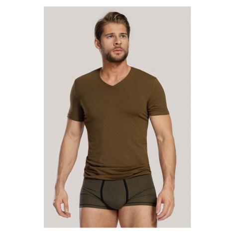 Pánský SET tričko a boxerky Dandy zelená Cotonella