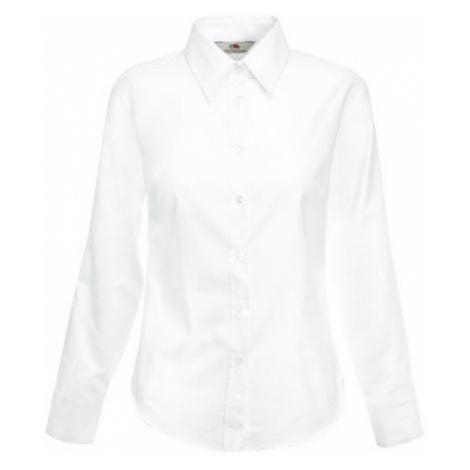 Dám.košilová halena,dl.rukáv,BA/PES bílá 135gr./F700