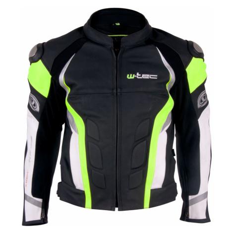 Pánská Kožená Moto Bunda W-Tec Velocity Černo-Modrá