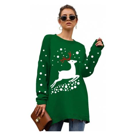 Dámský dlouhý vánoční svetr FashionEU