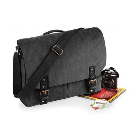 Retro Messenger taška - černá