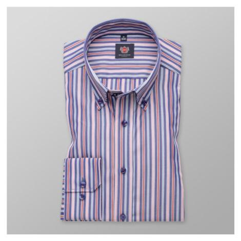 Pánská slim fit košile London 7790 v bílé barvě s proužky a úpravou easy care Willsoor