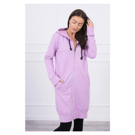 Hooded dress with a hood purple Kesi