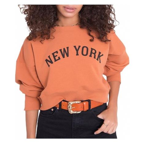 Světle oranžová mikina new york