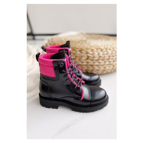Tommy Hilfiger Tommy Jeans fashion boots dámské - černá, růžová