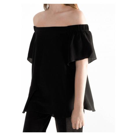 Černý top s krátkým rukávem – S/M Shana