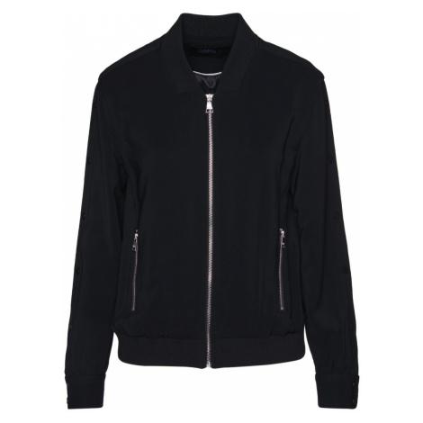 Bunda Karl Lagerfeld Bomber W/ Snap Sleeves - Černá