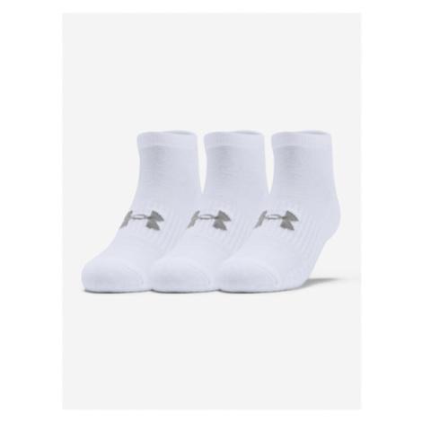 3PACK ponožky Under Armour bílé (1346772 100)