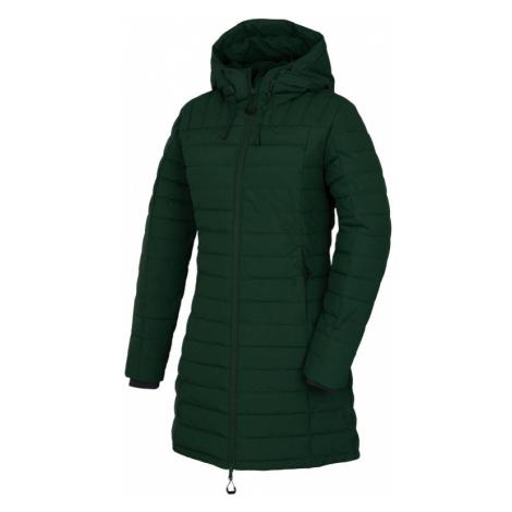 Dámský péřový kabát HUSKY Daili L tmavě zelená