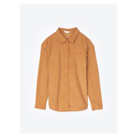 GATE Manšestrová košile s náprsní kapsou
