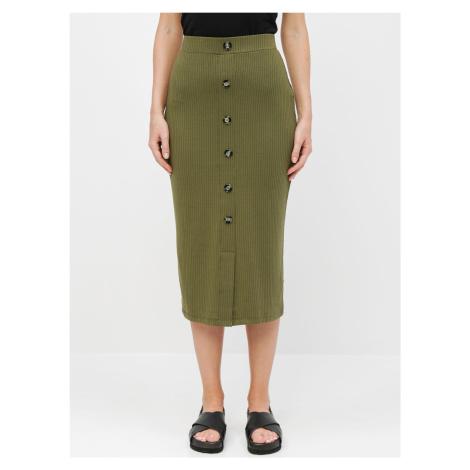 Tally Weijl khaki pouzdrová sukně