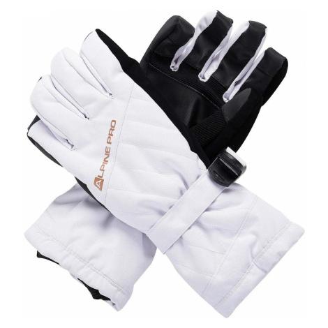 ALPINE PRO RENA Dámské lyžařské rukavice LGLS014000 bílá