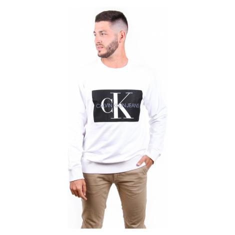 Calvin Klein pánská bílá mikina Crew