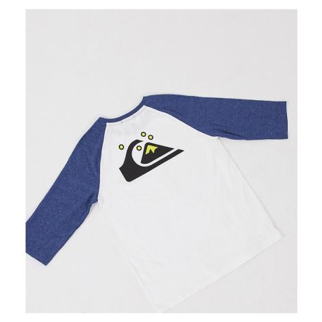 Quiksilver Raglan long sleeved t-shirt in white Exclusive at ASOS