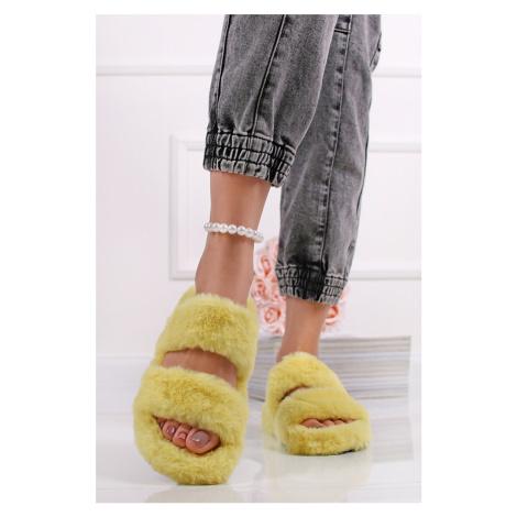 Žluté plyšové sandály Memphis Mulanka