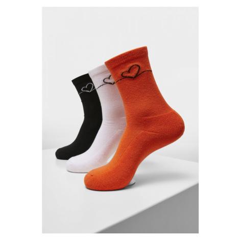 Heart Oneline Socks 3-Pack - lightlilac+li.green+li.yellow Mister Tee