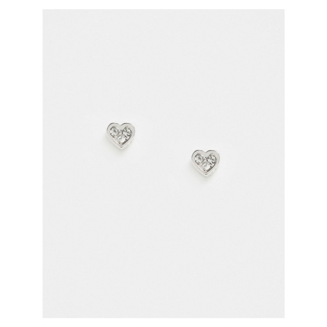 Ted Baker Neena crystal heart stud earrings in silver