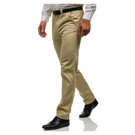Béžové pánské chino kalhoty Bolf 6190 GLO-STORY