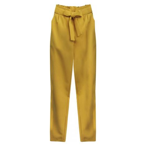 Kalhoty chino v hořčicové barvě s páskem (295ART)