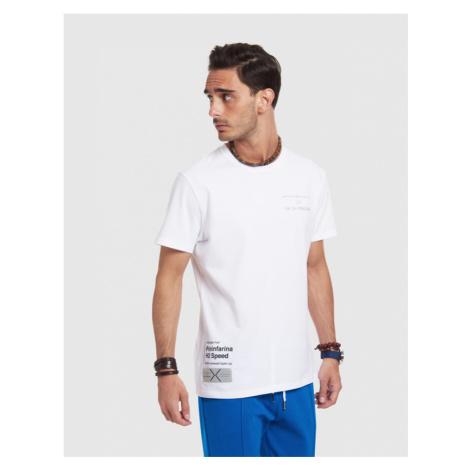 Tričko La Martina Man Tshirt S/S Stretch Cotton - Bílá