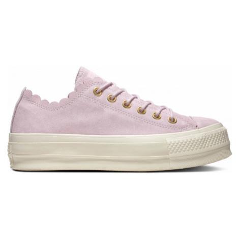 Converse CHUCK TAYLOR ALL STAR LIFT SCALLOP růžová - Dámské nízké tenisky