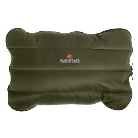 Péřový polštářek Warmpeace Down Pillow Zippered olive