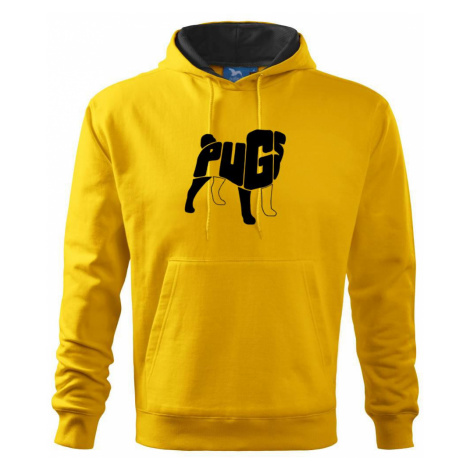 Mops - nazev v těle - Mikina s kapucí hooded sweater