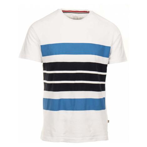 Napapijri pánské tričko bílé s černými modrými pruhy