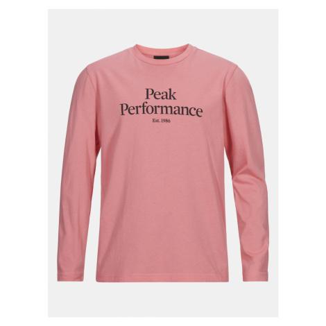 Tričko Peak Performance Jr Original Ls - Růžová